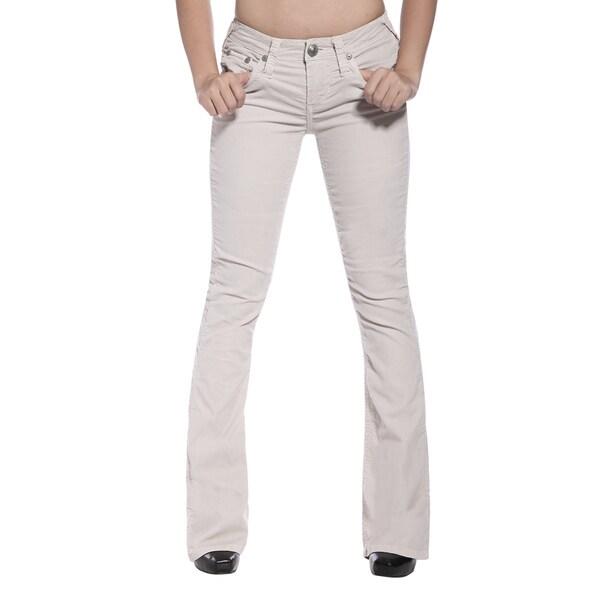 Stitch's Womens Light Wash Corduroy Boot-cut Jeans