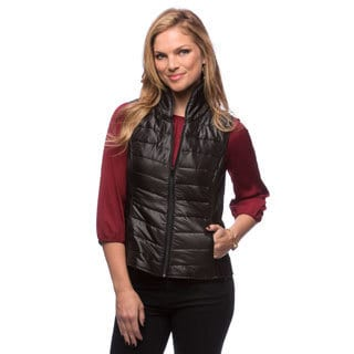 Live A Little Women's Black Puffy Vest