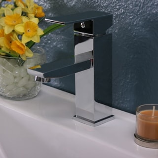 Polish Chrome Single Hole Square Faucet