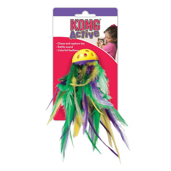 Kong Active Mega Feather Ball Cat Toy