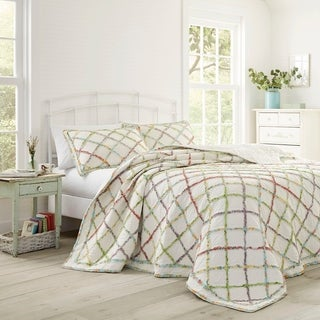 Laura Ashley Ruffled Garden Quilt with Sham Separates