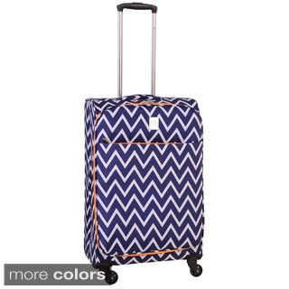 Jenni Chan Aria Madison Ultralite Chevron 25-inch Medium Spinner Upright Suitcase