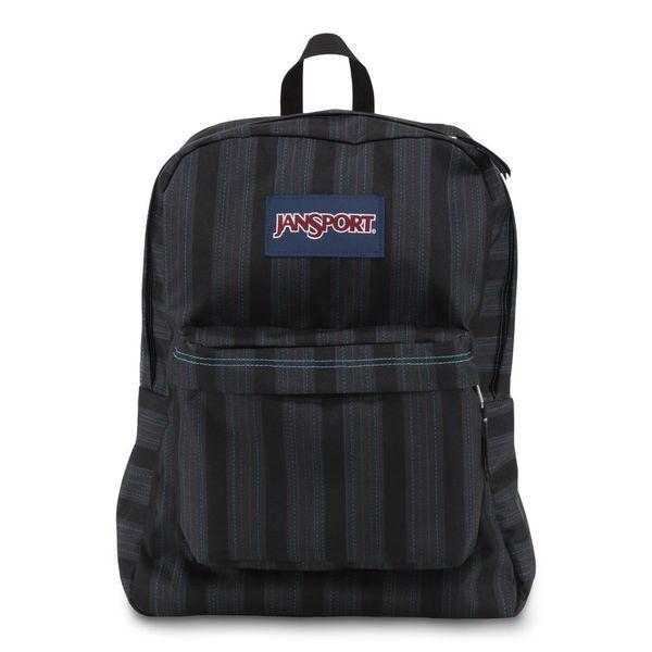 JanSport Mammoth Blue Stripe Super Break School Backpack