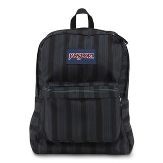 JanSport Mammoth Blue Stripe Super Break School Backpack