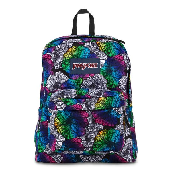 JanSport Multi Ombre Floral Super Break School Backpack