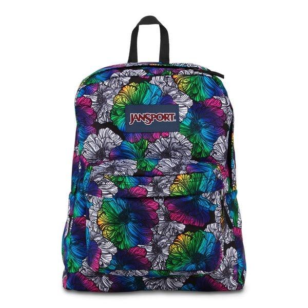 JanSport Multi Ombre Floral Super Break School Backpack