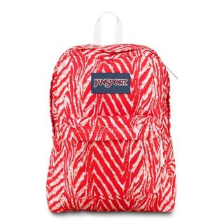 JanSport Coral Peaches Wild At Heart Super Break School Backpack