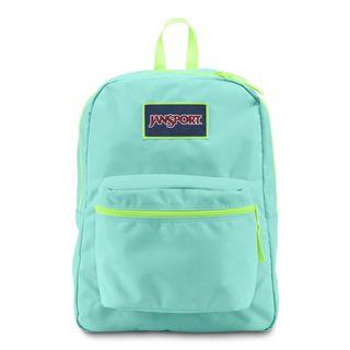 JanSport Overexposed Aqua Dash/ Lorac Yellow School Backpack