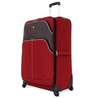SwissGear Red 28-inch Large Expandable Spinner Upright Suitcase