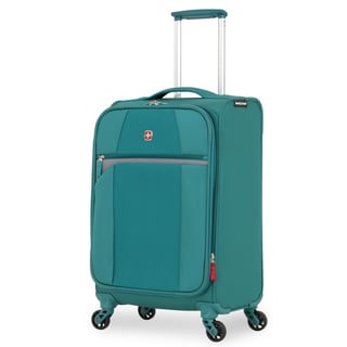 SwissGear 20-inch Teal Lightweight Carry On Exandable Spinner Upright Suitcase