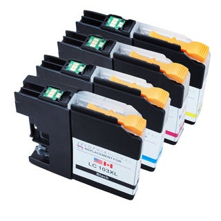 Sophia Global LC103XL Ink Cartridge Replacements for Brother Printers (1B, 1CMY)