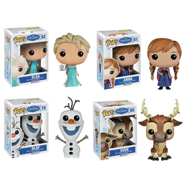Disney Frozen POP! Vinyl Set: Anna, Elsa, Olaf, Sven
