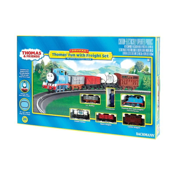 Bachmann Trains Thomas' Fun with Freight HO Scale Ready To Run Electric Train Set