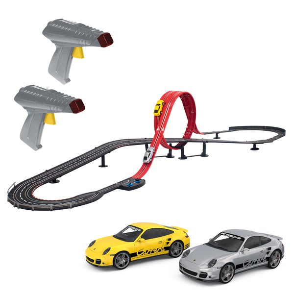 Artin 1:43 Scale Highway Hotshots Wireless Outer Looping Challenge Slot Car Racing Set