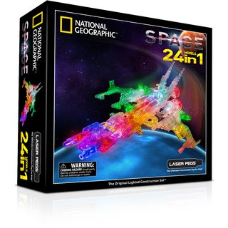 Laser Pegs National Geographic 24-in-1 Space Lighted Construction Toy