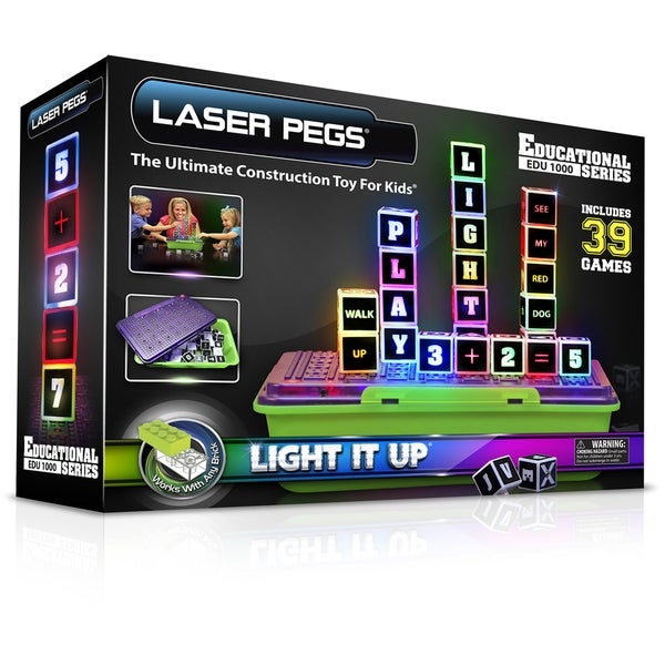 Laser Pegs Education Series Lighted Construction Toy