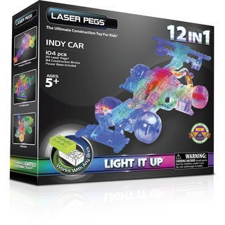 Laser Pegs 12-in-1 Indy Car Lighted Construction Toy
