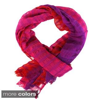 Pink/ Purple Loose Weave Scarf