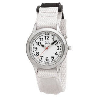 Youth/ Adult Talking Watch with White Velcro Adjustable Strap