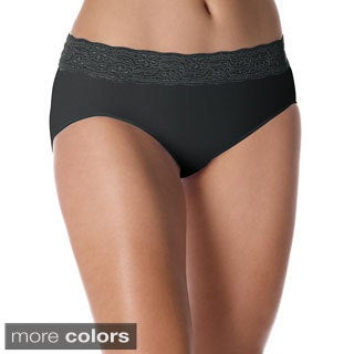 Bali Women's 'One Smooth U' Lace Waistband Hipster Panty
