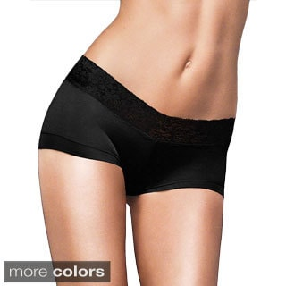 Maidenform Women's 'Dream' Cotton Boyshort Panties with Lace