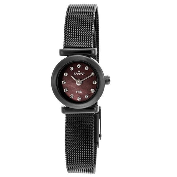 Skagen Women's 107XSMM1 'Classic' Brown Ion Plated Stainless Steel Crystal Watch
