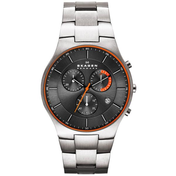 Skagen Men's SKW6076 Chronograph Titanium Bracelet Watch