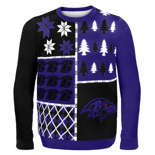 Baltimore Ravens Busy Block Ugly Sweater