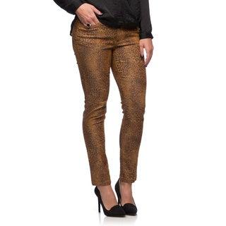 Live A Little Women's Animal Print 5-pocket Skinny Jeans