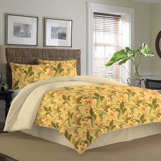 Tommy Bahama Key Largo Place Coral 3-piece Cotton Duvet Cover Set