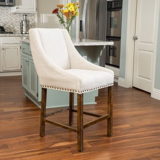 Christopher Knight Home Buckingham Fabric Counter Stool