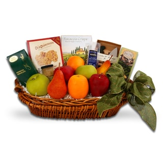 Holiday Fruits and Foodie Favorites Gift Basket