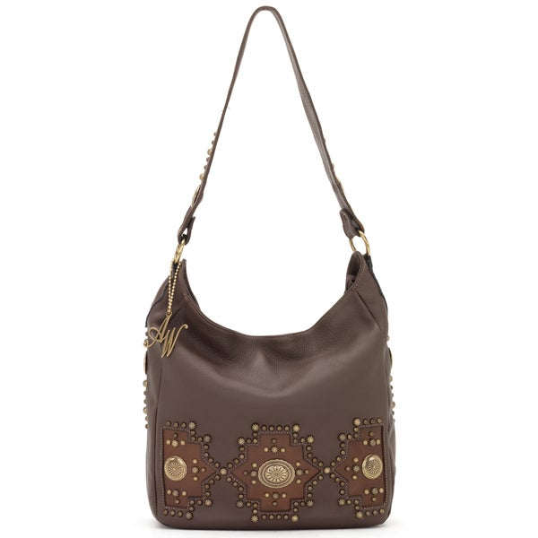 American West Chocolate Brown Slouch Zip-top Bag