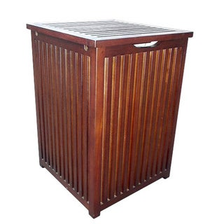 D-Art Colonial Mahogany Laundry Hamper (Indonesia)