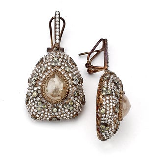 Diamonds for a Cure 18k Rose Gold 11 1/4ct TDW Multi-colored Diamond Dangle Earrings (G-H, SI1-SI2)