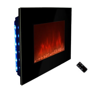 Golden Vantage 36-inch OS510EPB-GV Free Wall Mount Indoor Heater Electric Fireplace