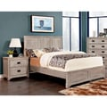 Furniture of America Godric Traditional 2-Piece Weathered Bed with Nightstand Set