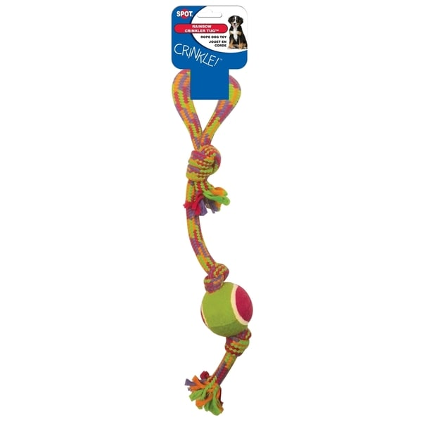 Crinkle Rope Tug W/Tennis Ball