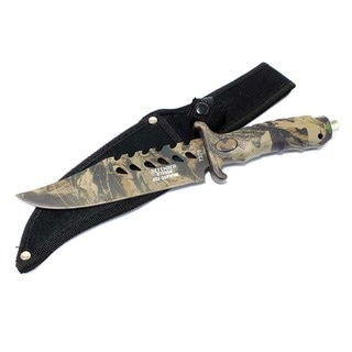 Defender 10.5-Inch Stainless Steel Fixed Blade Camouflage Hunting Knife