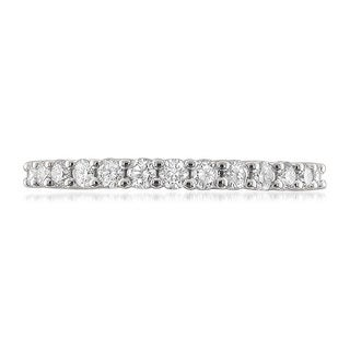 14k White Gold 1/2ct TDW Round-cut Diamond Wedding Band (G-H, VS2)