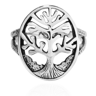 Handmade Mystical Branches Tree of Life Sterling Silver Ring (Thailand)