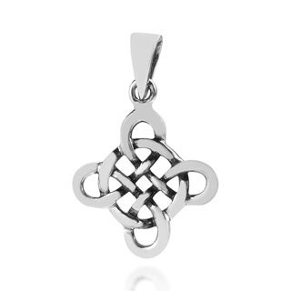 Quaternary Celtic Knot Cross Sterling Silver Pendant (Thailand)