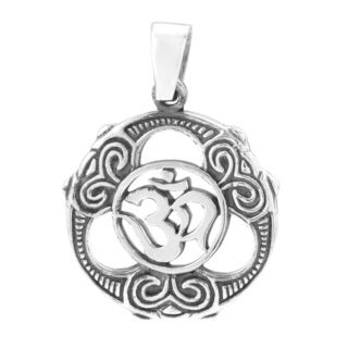 Peace and Unity Aum or Om Sign .925 Silver Pendant (Thailand)