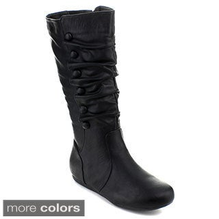 Top Moda Women's 'Bank-78' Knee-high Slouchy Boots