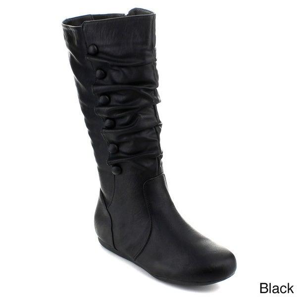 Top Moda Women's 'Bank-78' Knee-high Slouchy Boots