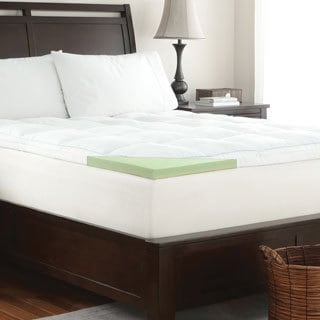 WHITE by Sarah Peyton 2-inch Memory Foam Mattress Topper with Quilted Cover