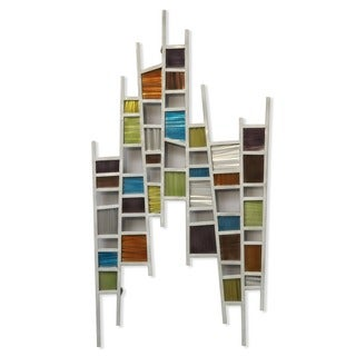 Colored Windows Metal Wall Art