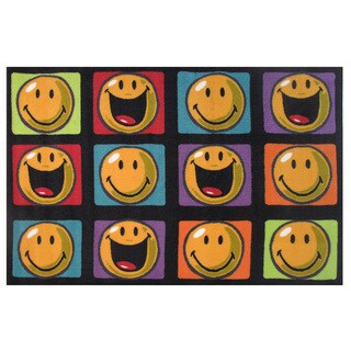 Happy All Around Multicolored Accent Rug (3'3 x 4'8)