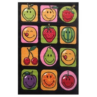 Fruit Multicolored Accent Rug (3'3 x 4'8')