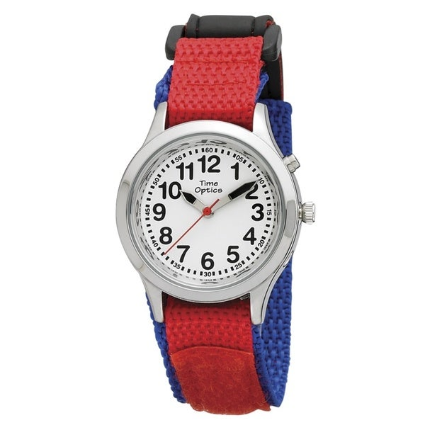 Kids' Unisex Red and Blue Talking Watch